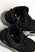 Детские демисезонные ботинки для мальчика 24р. черные , фото 3