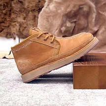 UGG Mens Bethany Chestnut Мужские зимние ботинки на шнурках рыжие, фото 3