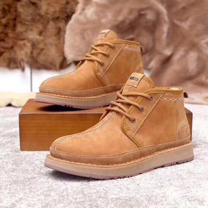 UGG Mens Bethany Chestnut Мужские зимние ботинки на шнурках рыжие