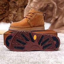 UGG Mens Bethany Chestnut Мужские зимние ботинки на шнурках рыжие, фото 2