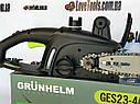 Электропила цепная Grunhelm GES 23-40B пила, фото 7