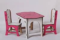 Игровой Набор 1: стол + 2 стула для кукол Барби, Братц, Монстер Хай