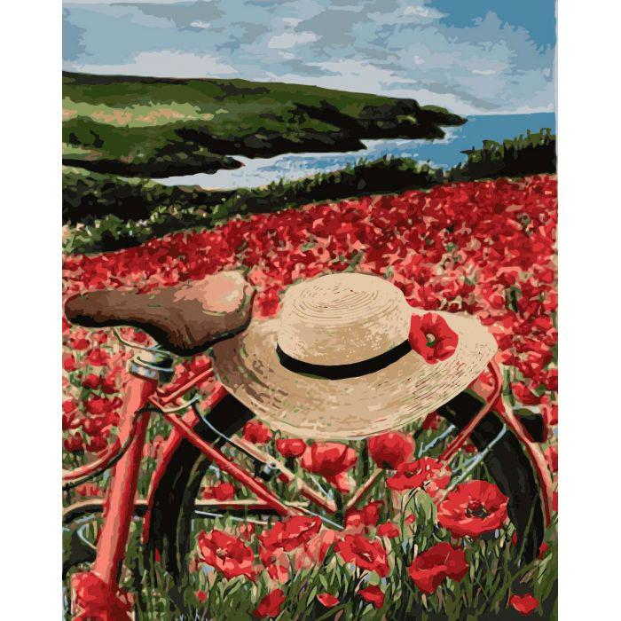 Картины по номерам Прогулка по маковому полю KH2239 Идейка 40 х 50 см