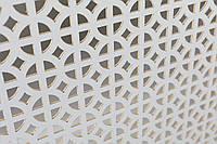 Панель (решетка) декоративная перфорированная Белый, Классик