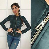 Демисезонная куртка-пиджак из экокожи , размеры 42-48, фото 1