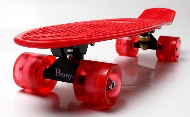 Пенниборд красный Светящиеся красные колеса Гарантия качества Быстрая доставка