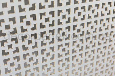 Панель (решетка) декоративная перфорированная, 1390 мм х 680 мм Белый, Эфес