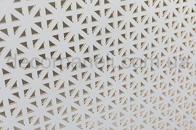 Панель (решетка) декоративная перфорированная, 1390 мм х 680 мм Белый, Сити