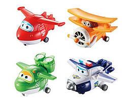 Набор трансформеров - Super Wings - Transform-a-Bots 4 Pack. (Супер крылья. Джетт, Пол, Мира,Дедушка Альберт)