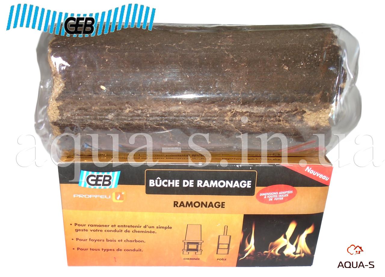 Полено для чистки дымоходов GEB Propfeu Buche от смол и сажи (Франция)