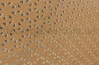 Панель (решетка) декоративная перфорированная, 1390 мм х 680 мм Бук, Сити