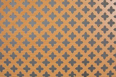Панель (решетка) декоративная перфорированная, 1390 мм х 680 мм Бук, Роял