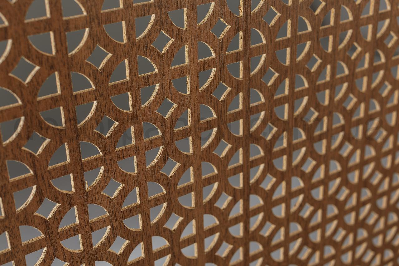 Панель (решетка) декоративная перфорированная, 1390 мм х 680 мм Лесной орех, Классик