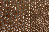 Панель (решетка) декоративная перфорированная Лесной орех, Классик