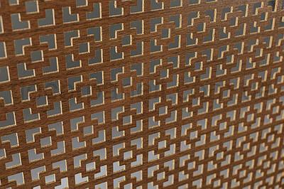 Панель (решетка) декоративная перфорированная, 1390 мм х 680 мм Лесной орех, Эфес
