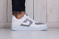 Кроссовки мужские Nike Air Force 1 Mid white (реплика), фото 1