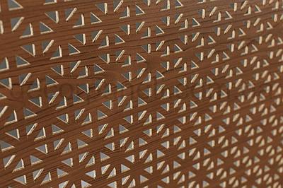 Панель (решетка) декоративная перфорированная, 1390 мм х 680 мм Лесной орех, Сити