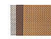 Панель (решетка) декоративная перфорированная, 1390 мм х 680 мм Лесной орех, Роял, фото 2
