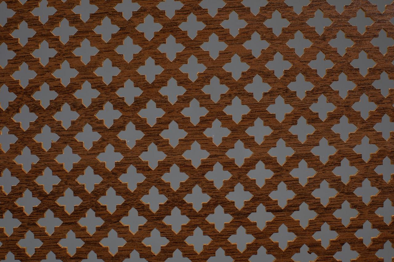 Панель (решетка) декоративная перфорированная, 1390 мм х 680 мм Лесной орех, Роял