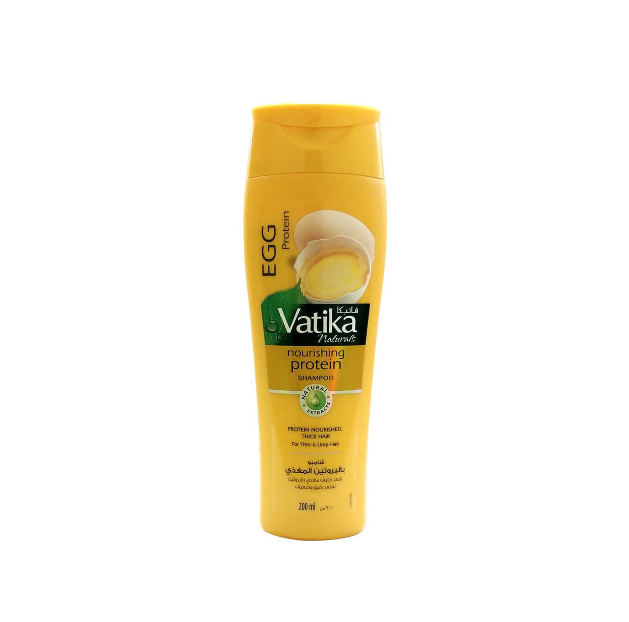 Шампунь для тонких и ломких волос с протеинами яиц Dabur Vatika Egg