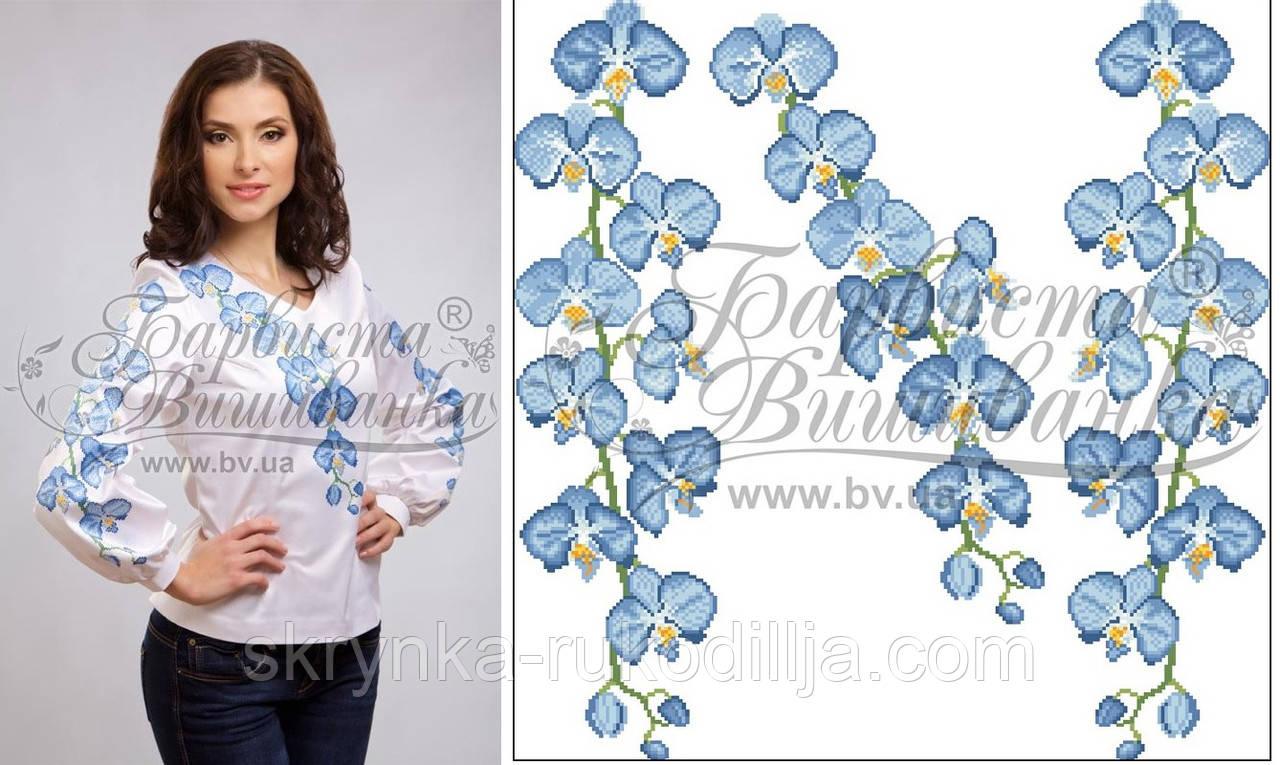 Заготовка для вишивки бісером жіночої сорочки на тканині цупкий шовк білого  кольору 0e74a385b1bdb