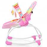Шезлонг-качалка Bambi 6903-1 Pink, фото 3