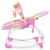 Шезлонг-качалка Bambi 6903-1 Pink, фото 4
