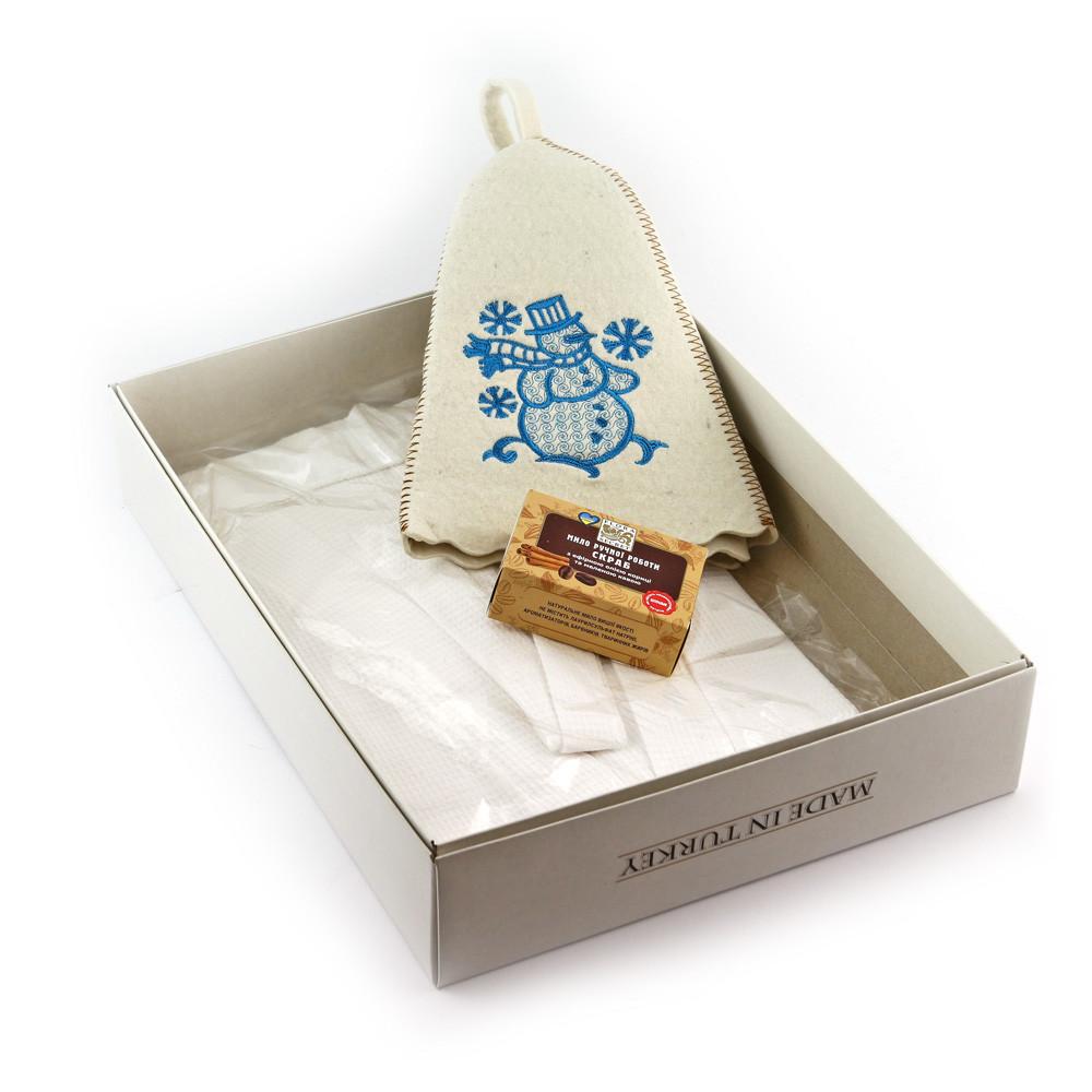 Подарочный набор для сауны №8 Снеговик