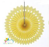 Гирлянда веер айвори - диаметр 12см, картон, бумага, нить, фото 4