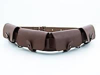Патронташ на пояс на 24 патрона закрытый кожа-спилок коричневый 5101/2, фото 1