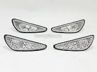 Активные фонари в бампер (передний+задний) Nissan Maxima 00-06 комплект 4 шт., белые (Depo)