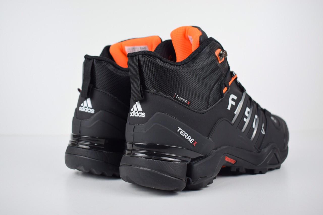 2d160fbc ... Зимние мужские кроссовки Adidas Fastr черные с оранжевым 3185, ...