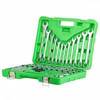 Набор инструмента INTERTOOL ET-6038SP (38 ед.) зеленый