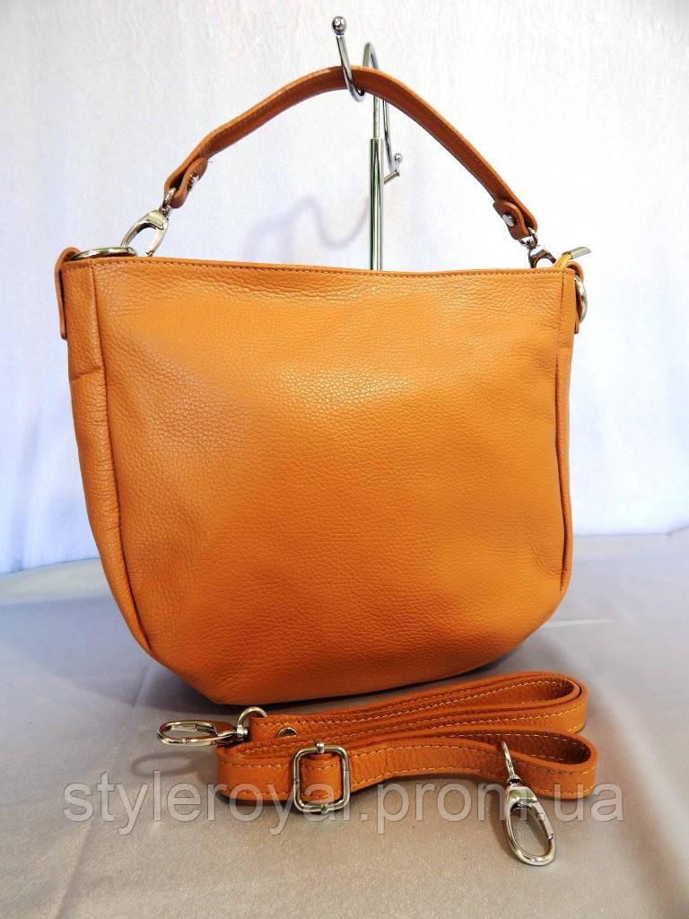 Женская сумка Virginia Conti из натуральной кожи кофе с молоком