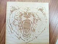 Лазерная гравировка, картина (Медведь)