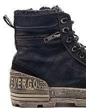 Оригинальные Ботинки Мужские AW18 KARAVAS ZIP DE-CF8011LE 18FW DEN (мех) Черные, фото 3