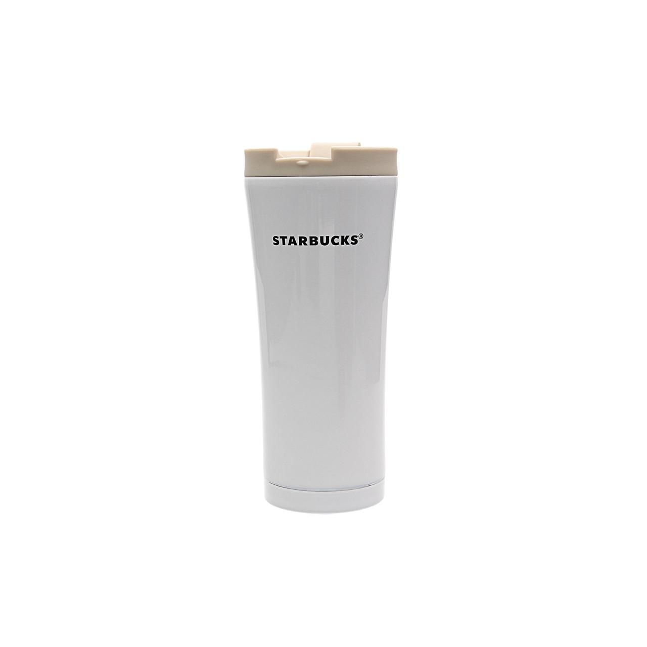 🔝 Термокружка Starbucks 500 мл., Белая, металлический стакан-термос Старбакс, с доставкой по Киеву и Украине | 🎁%🚚