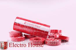 EH-AHT-1809 Красная изолента 11м. 0,15мм х 18мм