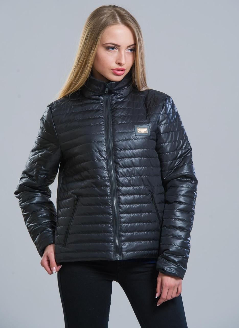 Куртка женская демисезонная стеганая осенняя, черная