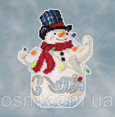 Набор для вышивки Snowman with Lights by Jim Shore (2016)