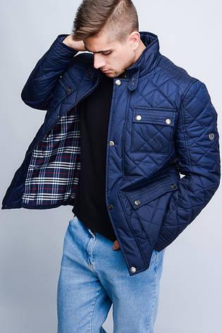 Куртка мужская демисезонная -23547, (Т. синий), фото 2