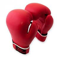 Перчатки боксерские Europaw кожа красные 10 oz