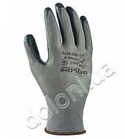 Рабочие перчатки нейлоновые с нитриловым покрытием неполный облив Doloni 4576