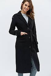 Пальто женское демисезонное удлиненное PL-8681-8, (Черный) | 46, 48р.