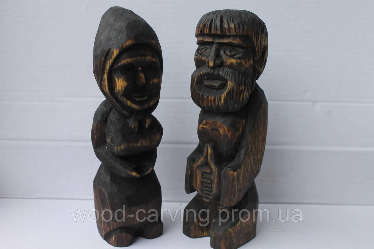 """""""Парочка"""". Дерев'яні статуетки. Різьба по дереву"""