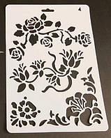 Трафарет для декора, №4, цветы