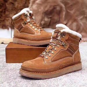 UGG Mens Bethany Chestnut Мужские зимнее ботинки на шнурках