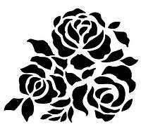 Трафарет для декора, розы