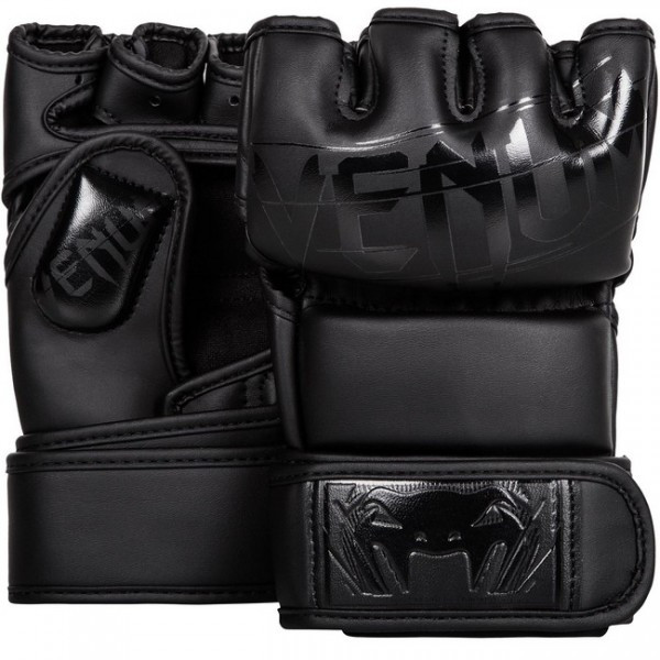 Рукавички Venum Undisputed 2.0 MMA Gloves - Semi Matte Black Leather