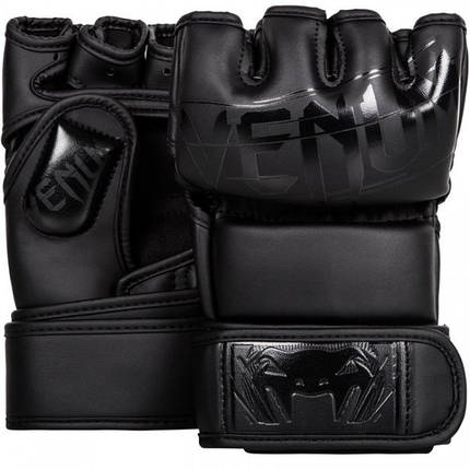 Рукавички Venum Undisputed 2.0 MMA Gloves - Semi Matte Black Leather, фото 2